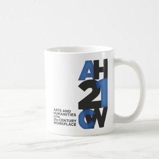2-sided logo mug, blue & white