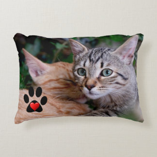 2-Sided Love Cats Accent Pillow