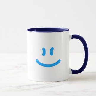 2-Sided More Happy/Smile-Blue Mug
