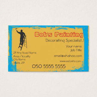 2 Sided Painting Name Card