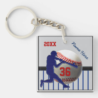 2 Sided Personalized Baseball Keychains Your Text