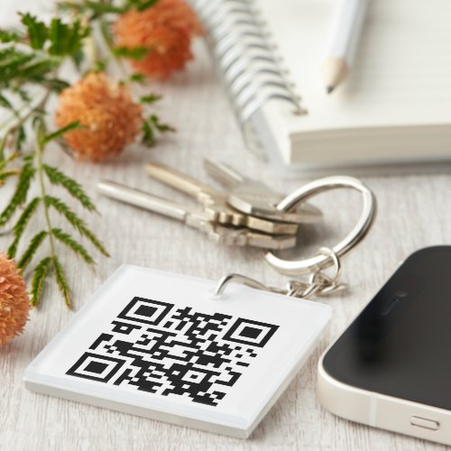 2 Sided QR Code Business Promotional or Event Pass Keychain