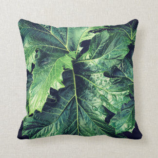 2-Sided Rhododendron Leaves Throw Pillow
