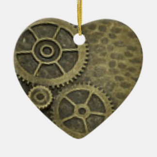 2 Sided Steam Punk Gears Heart Ornament