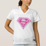 2 Sided Supergirl Logo | Add Your Name Women's Football Jersey