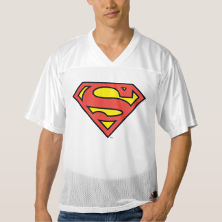 2 Sided Superman Logo | Add Your Name Men's Football Jersey