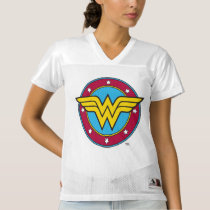 2 Sided Wonder Woman Logo | Add Your Name Women's Football Jersey