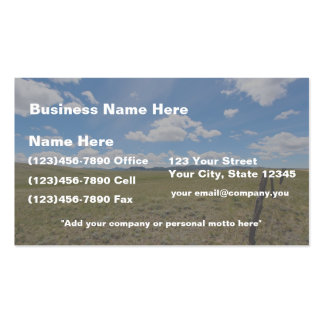 2-sided Wyoming Sky Business Card