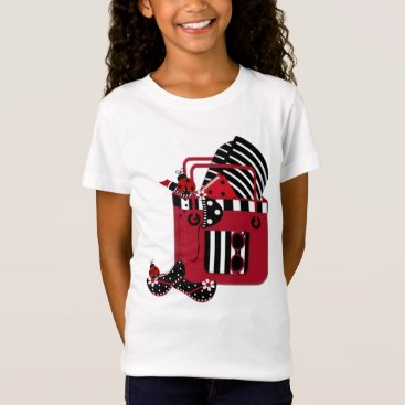 Beach Themed 2 SidedGirls' Bella Canvas Fitted Babydoll T-Shirt