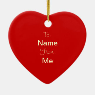 2 SIDES / DIY ~ Gift Tag Ornament Heart / 3x2.8