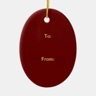 """2 SIDES / DIY ~ Gift Tag Ornament Oval 3.32"""""""