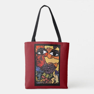 2 sides to every story... tote bag