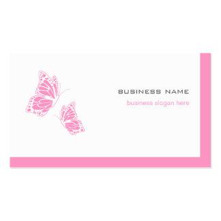 2 simples modernos elegantes rosados y blancos de tarjetas de visita