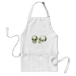 2 Skulls Bronze Adult Apron