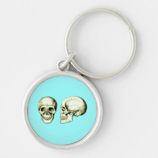 2 Skulls Bronze Keychain