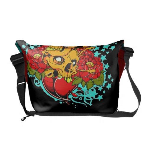 2 Skulls Courier Bag