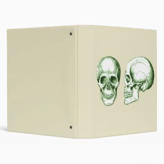 2 Skulls Green Binder