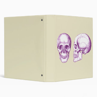 2 Skulls Purple Binder