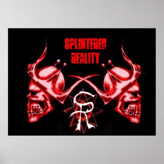 2 skulls splintered reality poster