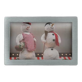 2 snowmen decorations belt buckle