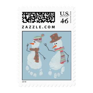 2 Snowmen stamp