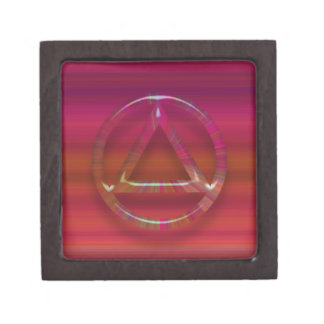 2 Sober Sobriety Recovery Circle Triangle Keepsake Box