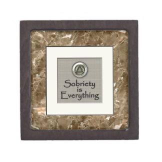 "2"" Sobriety Is Everything Recovery Box"
