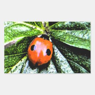 2-spot ladybug 4 rectangular sticker