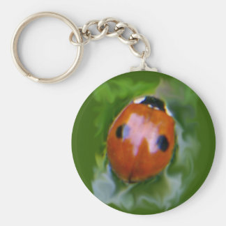 2-spot ladybug I Keychain