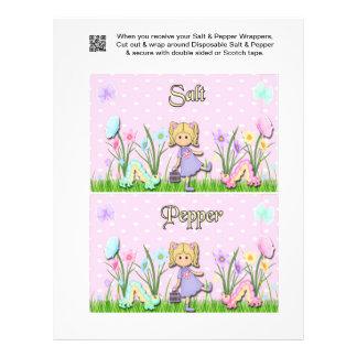 2 Springtime Easter Salt & Pepper Shaker Wrappers Flyer