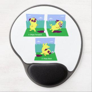 2 Steps Forward, 0 Steps Back Motivational Pug Dog Gel Mouse Pad