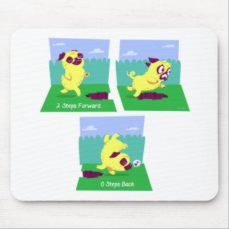 2 Steps Forward, 0 Steps Back Motivational Pug Dog Mouse Pad