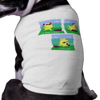 2 Steps Forward, 0 Steps Back Motivational Pug Dog Tee