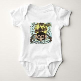 2 Stinkin' Cute Monkey Baby Baby Bodysuit