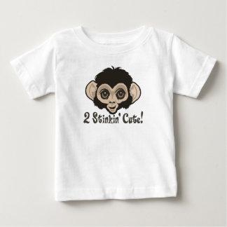 2 Stinkin' Cute Monkey Baby Baby T-Shirt