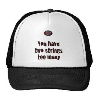2 Strings on White Trucker Hat