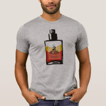 """2 Stroke Cologne"" Heather Gray T-shirt"