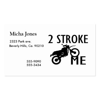 2 Stroke Me Dirt Bike Double-Sided Standard Business Cards (Pack Of 100)
