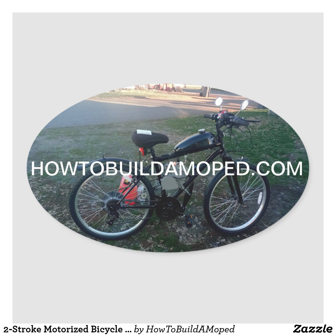 2-Stroke 80cc 66cc 48cc 77cc                 clutch cover sticker Motorized Bicycle Engine Decal Kit                 Sticker HowToBuildAMoped.com