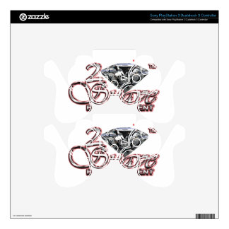 2 Suave Ruby Collection PS3 Controller Skin