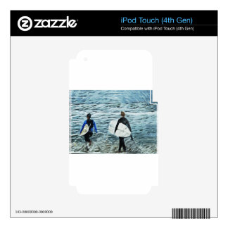 2 surfers iPod touch 4G skins