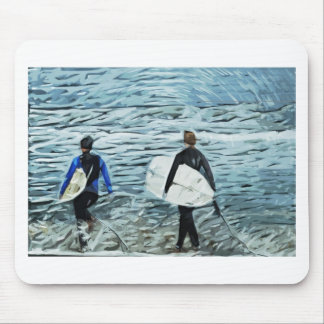 2 surfers mouse pad