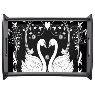 2 Swans white 1 Serving Tray