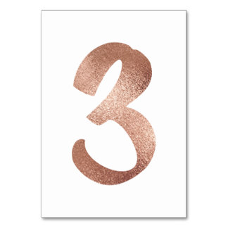 2 Table  Number White Metallic Pink Rose Gold Table Number