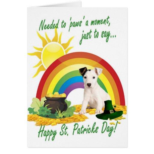 2. Tarjeta adorable del St Patricks de Jack Russel
