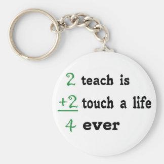2 teach is 2 touch a  Life 4 ever Keychain