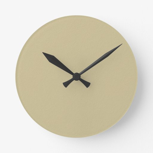 2 TEMPLATE Colored easy to ADD TEXT and IMAGE gift Round Wallclock