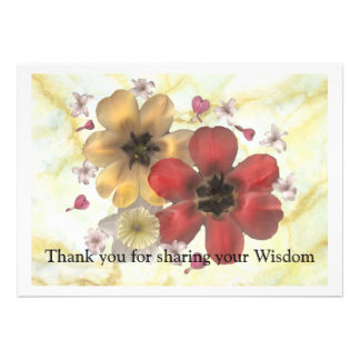 2 Thank you for sharing your wisdom Custom Invitations