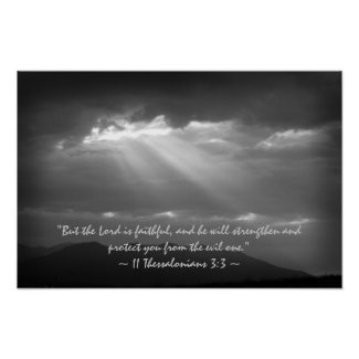 2 Thessalonians 3:3 Poster print