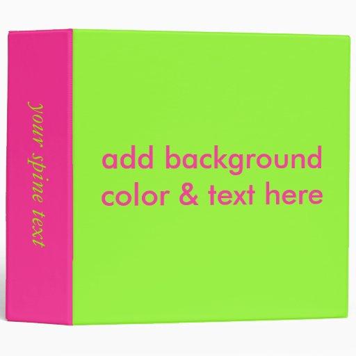 3 ring binder label template